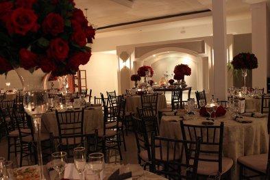 Espaço de convidados buffet de casamento