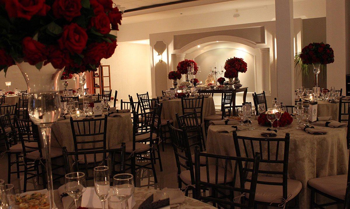 Salão decorado para casamento