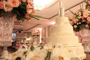 Mesa de bolo de casamento Buffet Finesse