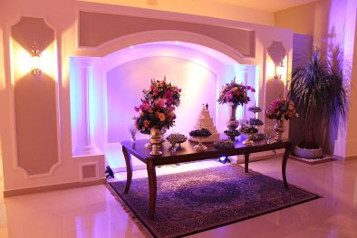 Mesa dos noivos Buffet Finesse