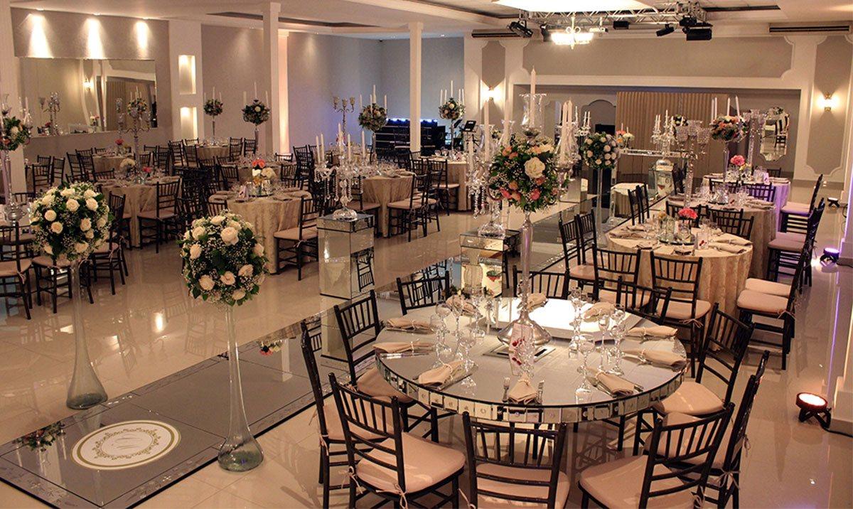 Salão Decorado para Casamento do Buffet Finesse