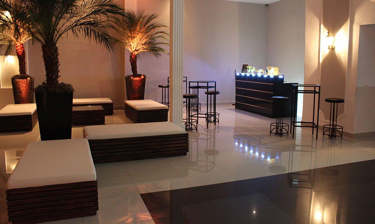 Lounge com bar para casamento