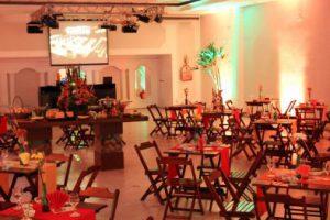 Salão para festa de aniversário