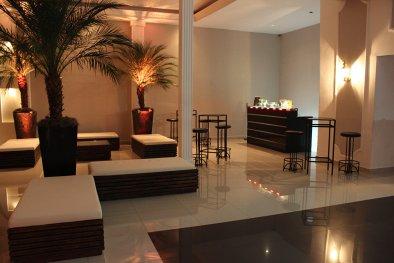 Lounge e bar para festa de aniversário