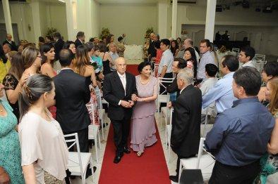 Salão para festa de bodas de ouro