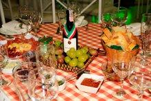 Jantar italiano para casamento