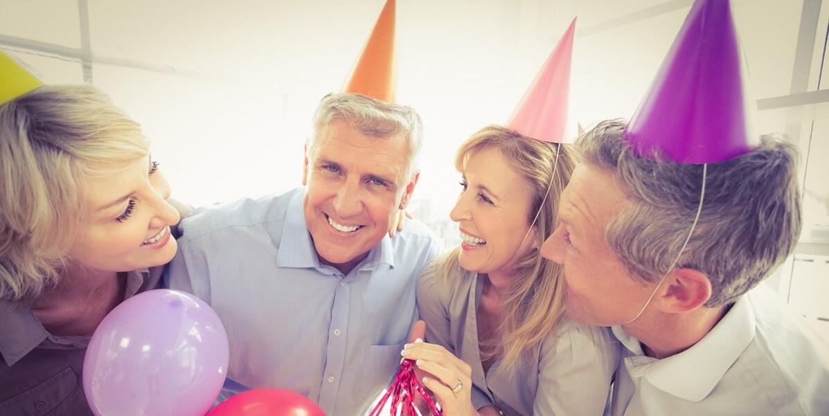 Festa de 50 anos para homem